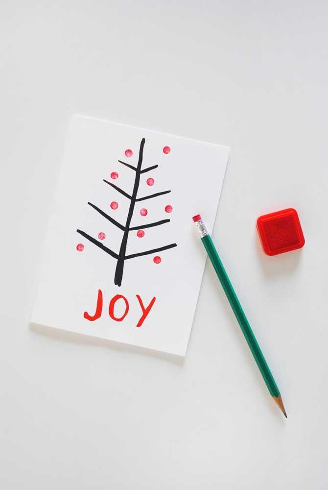 Chame as crianças e façam juntos os cartões de Natal para a família