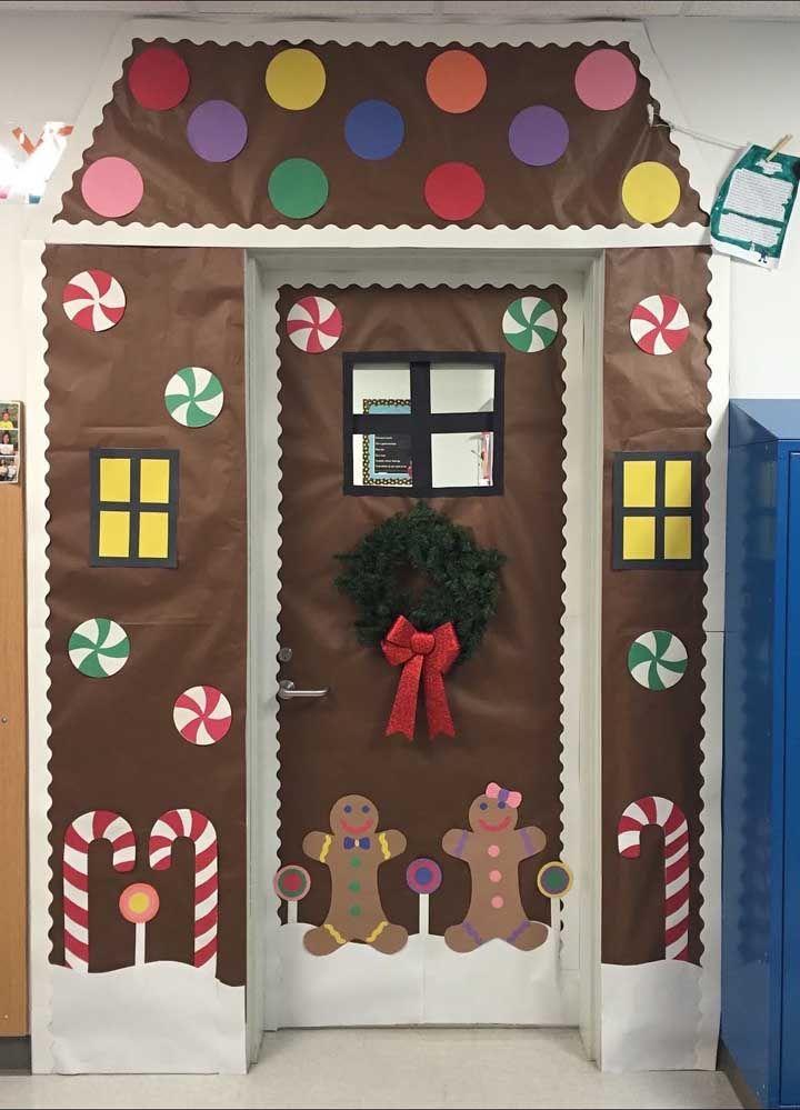 Painel de Natal inspirado nas guloseimas da época