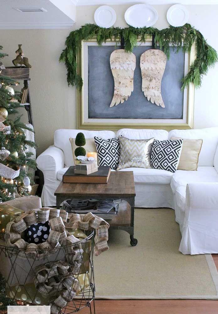 As asas de anjo representam o clima de harmonia e paz que o Natal transmite