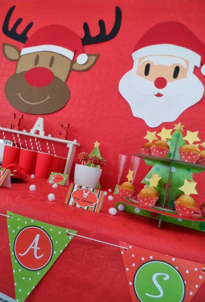 Papai Noel e suas renas, dois grandes símbolos do natal