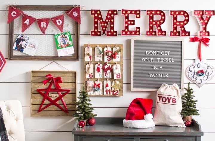 Painel de Natal moderninho e descolado; tem opções para todos os gostos e estilos