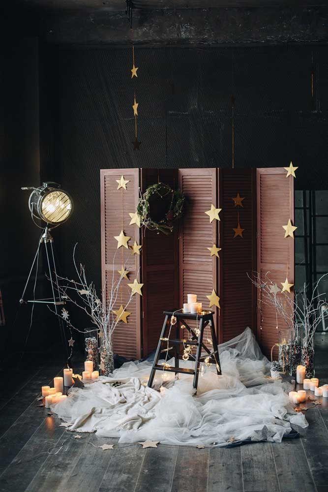 Painel de Natal para tirar aquelas fotos lindas da família; parece até um estúdio