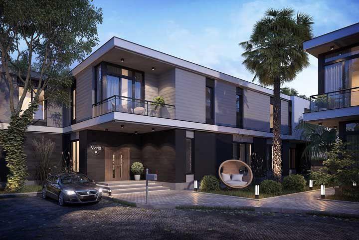 A frente dessa casa foi planejada para ser vivida e apreciada pelos moradores