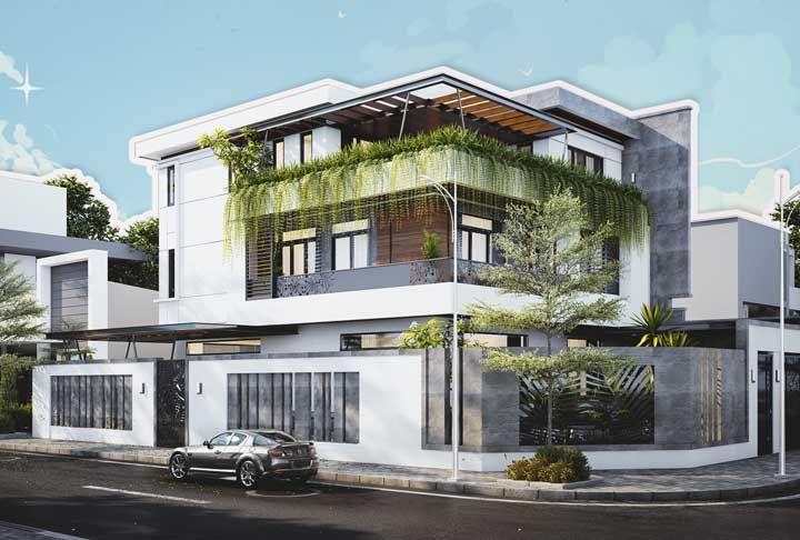 A casa de esquina precisava de um projeto de fachada a altura da sua localização