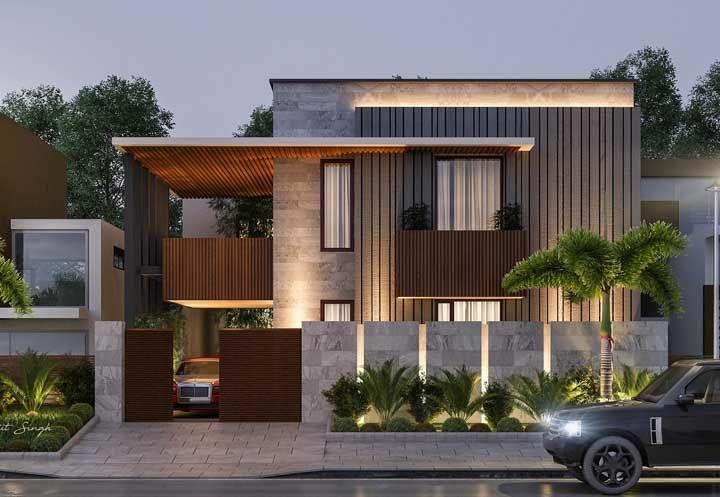 Ao ver uma frente de casa como essa se torna óbvio o porquê de ser tão necessário pensar no planejamento da fachada no inicio da construção