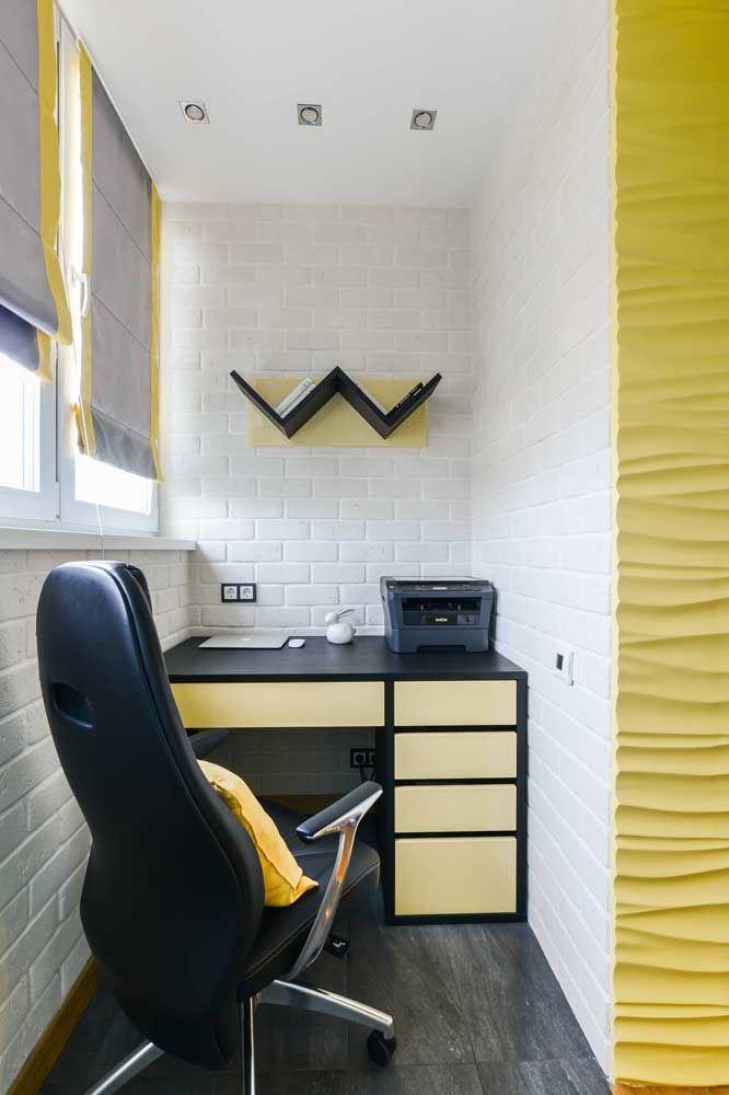 Amarelo para estimular o intelecto e a criatividade no home office
