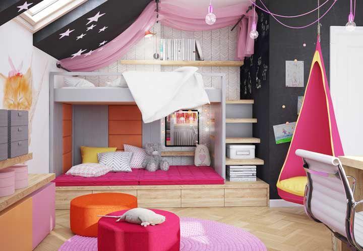 Os quartos infantis permitem brincar com diferentes possibilidades de cores