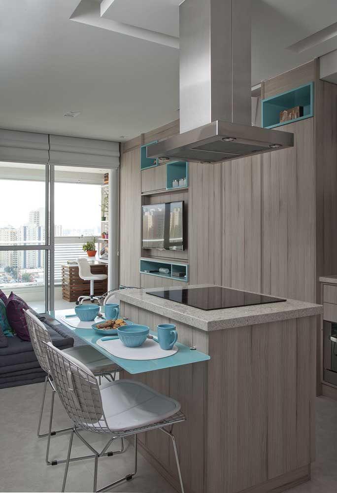 As bancadas de refeição são uma das melhores opções para apartamentos pequenos