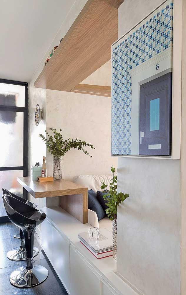 Cada espaço do apartamento deve ser aproveitado com móveis funcionais e inteligentes