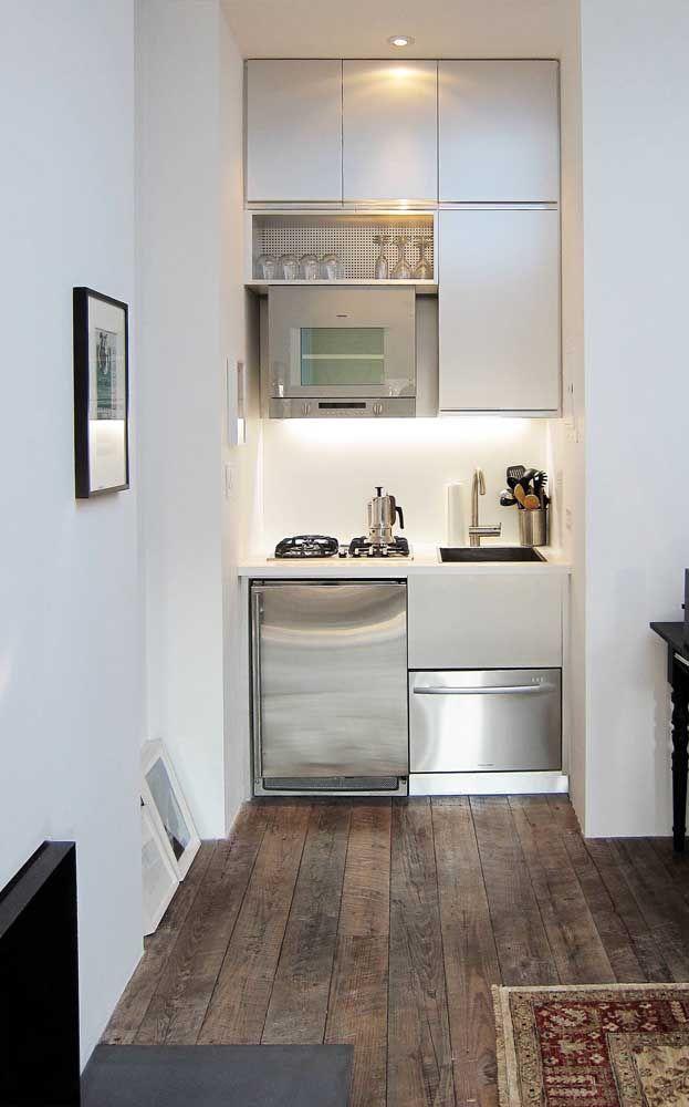 Dá para ter uma cozinha pequena, funcional e organizada? Com os móveis certos sim
