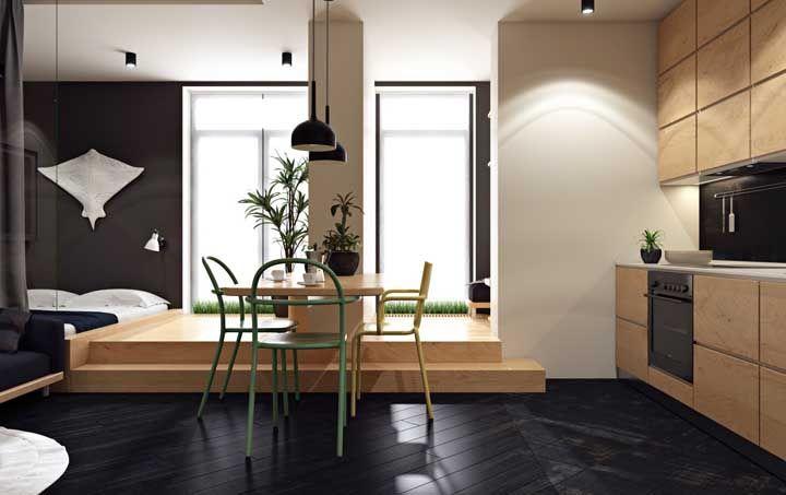 E aposte nos projetos de marcenaria para valorizar toda a estética do seu apartamento