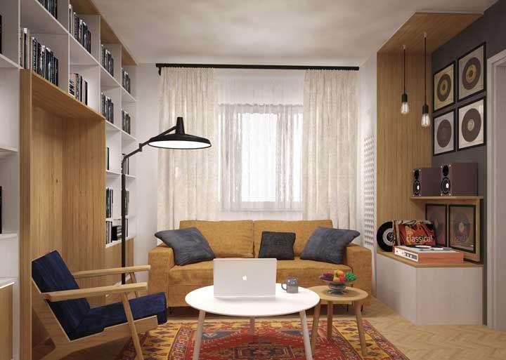 Nichos abertos e móveis embutidos são a sugestão dessa outra imagem