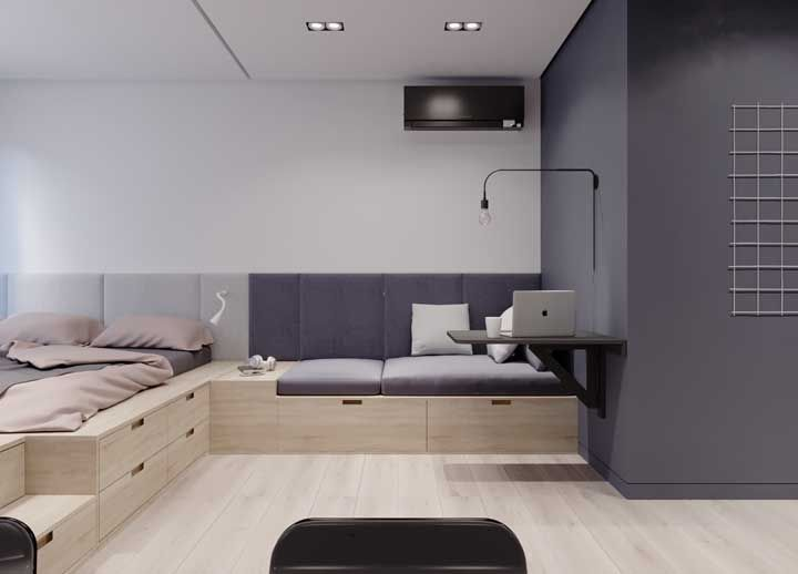 Para os móveis de apartamento pequeno a dica é: una o útil ao agradável (e necessário)