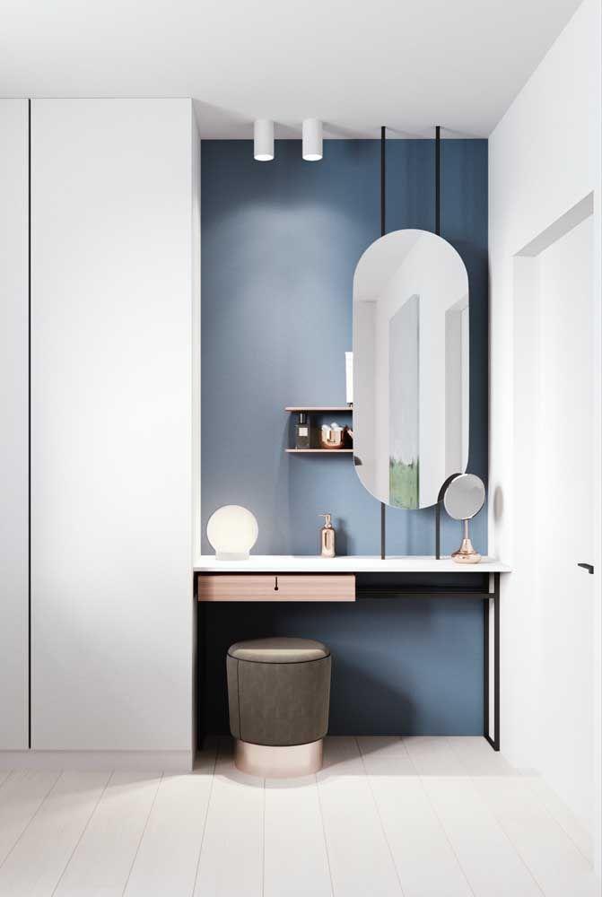 Com as cores frias ainda é possível criar lindas decorações modernas e cheias de estilos