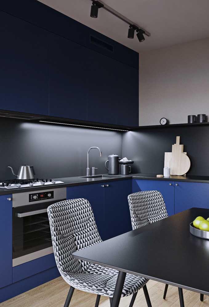 Uma cozinha azul para admirar e se inspirar