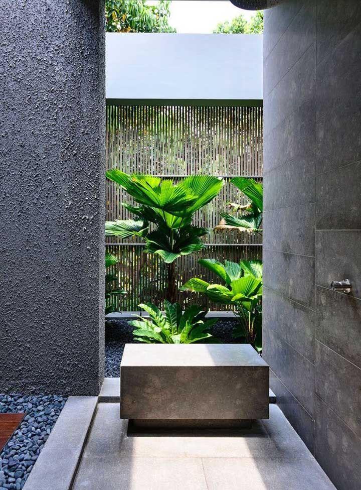 Projeto verde de banheiro