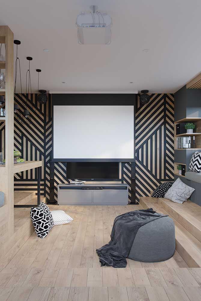 Já pensou em abrir mão do tradicional sofá e usar apenas um puff grande na sala?