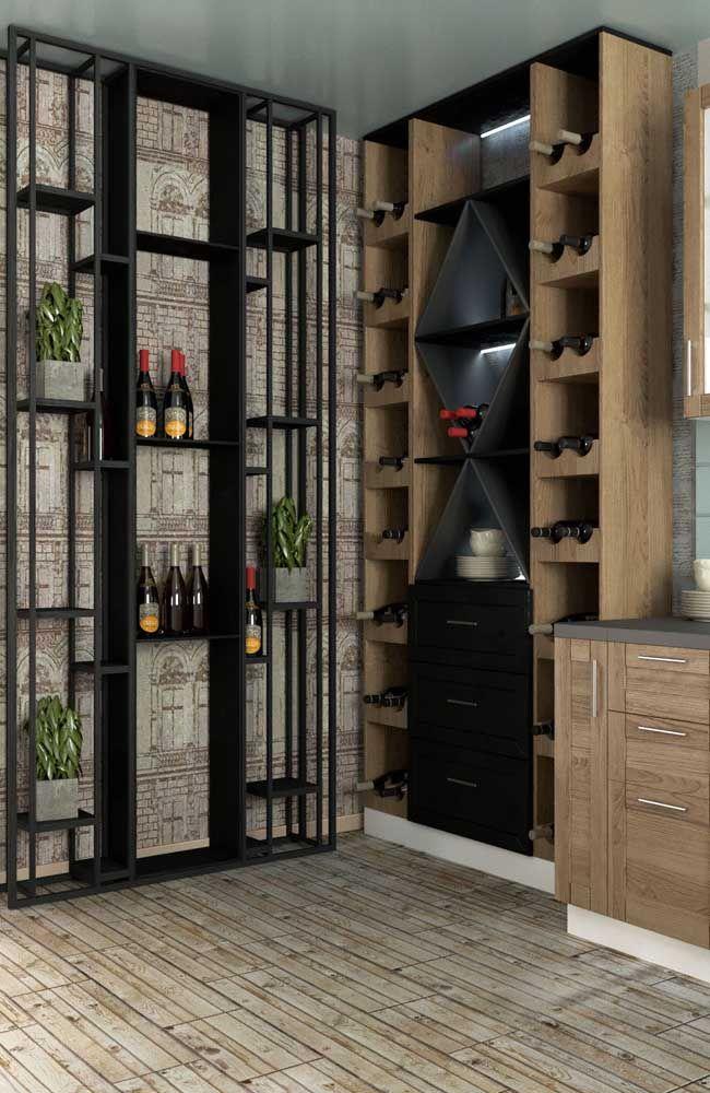 A cor da adega segue a cor dos móveis da cozinha: detalhes que fazem a diferença no visual final do ambiente