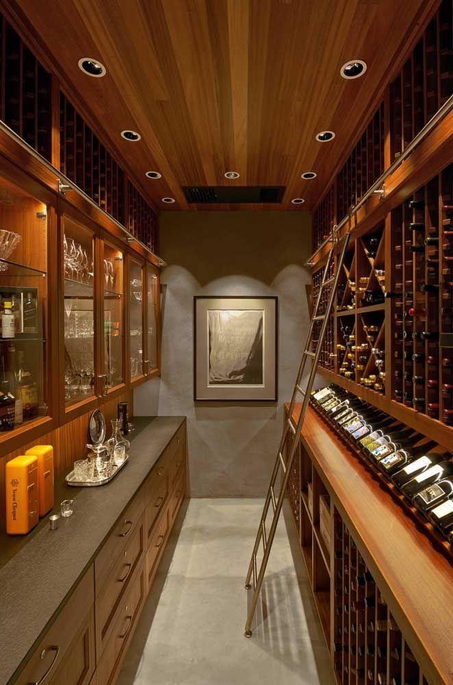 Não, não é uma vinícola, e só uma adega super planejada para um grande amante de vinhos