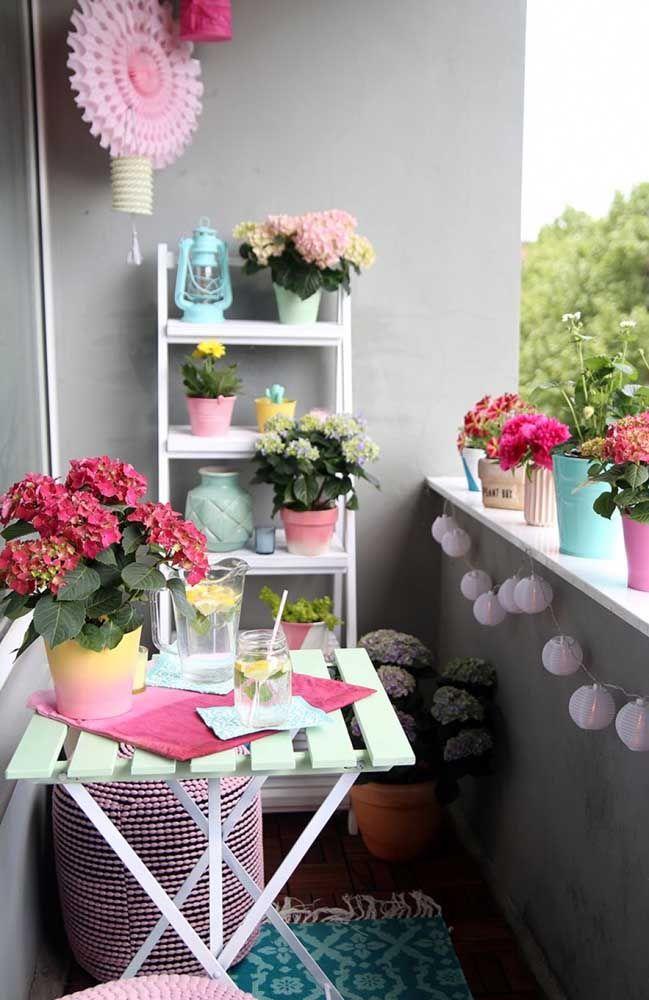 Pensou como seria decorar a varanda só com elas?