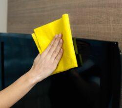 Como limpar tela de tv