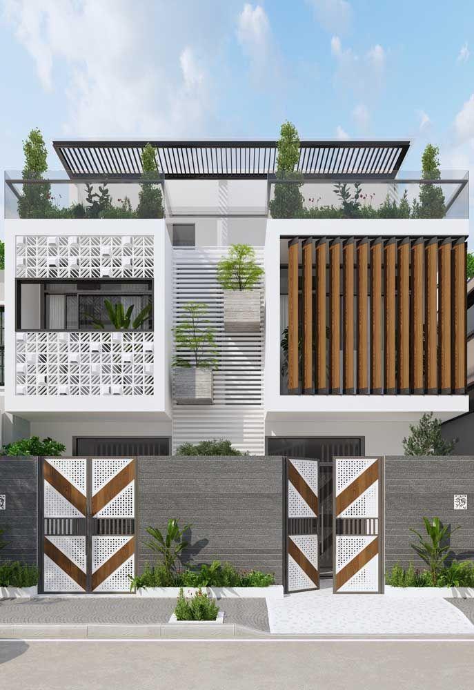 A beleza de uma casa começa pela fachada