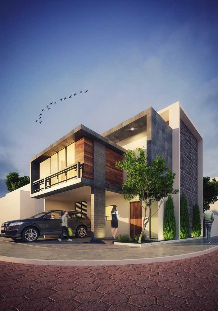 Quer uma casa moderna e bonita? Então invista em volumes e formas diferenciadas na fachada