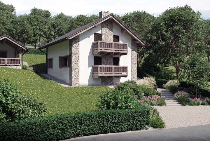 Mas uma fachada revestida com pedras também é bem vinda em casas de estilo colonial