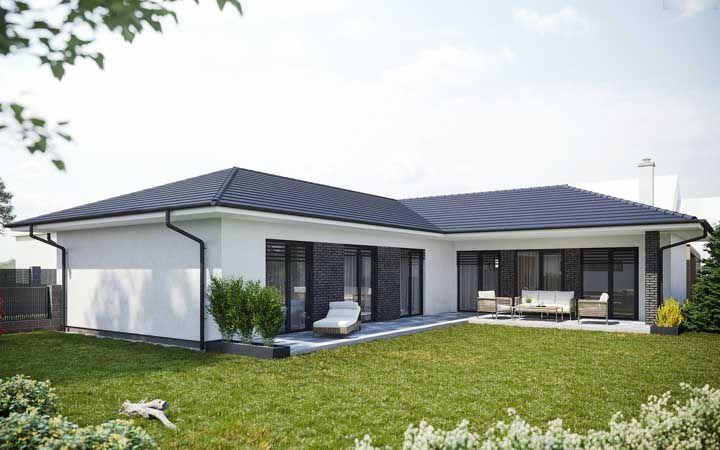 A casa simples também optou pelo formato em L