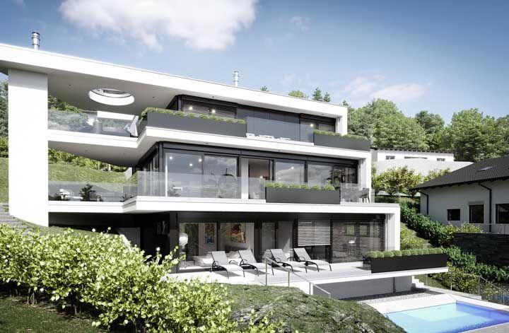 Os projetos de casas grandes precisam ser planejados de modo que a casa não pareça fria e impessoal