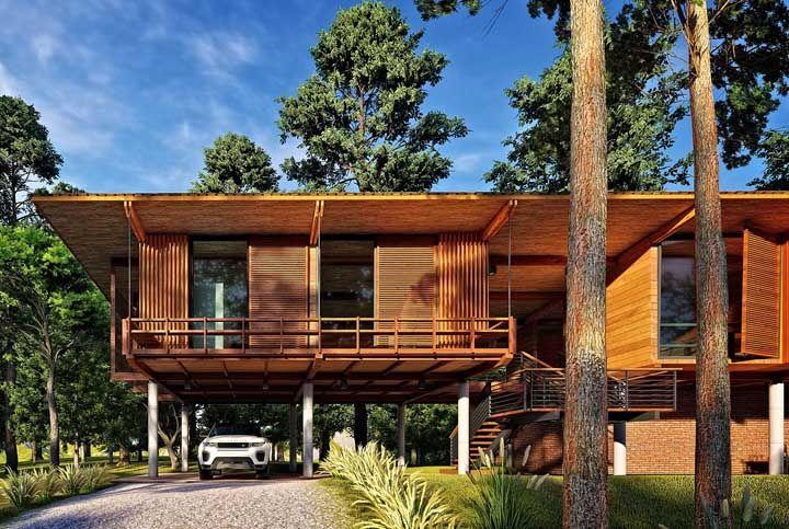 Casa de madeira e natureza: tem combinação melhor?