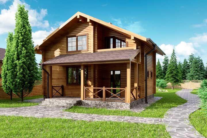 Uma casinha simples de madeira para chamar de sua