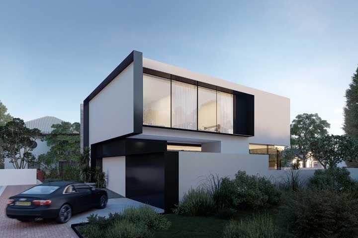 As casas com propostas minimalistas também se beneficiam do uso do metal