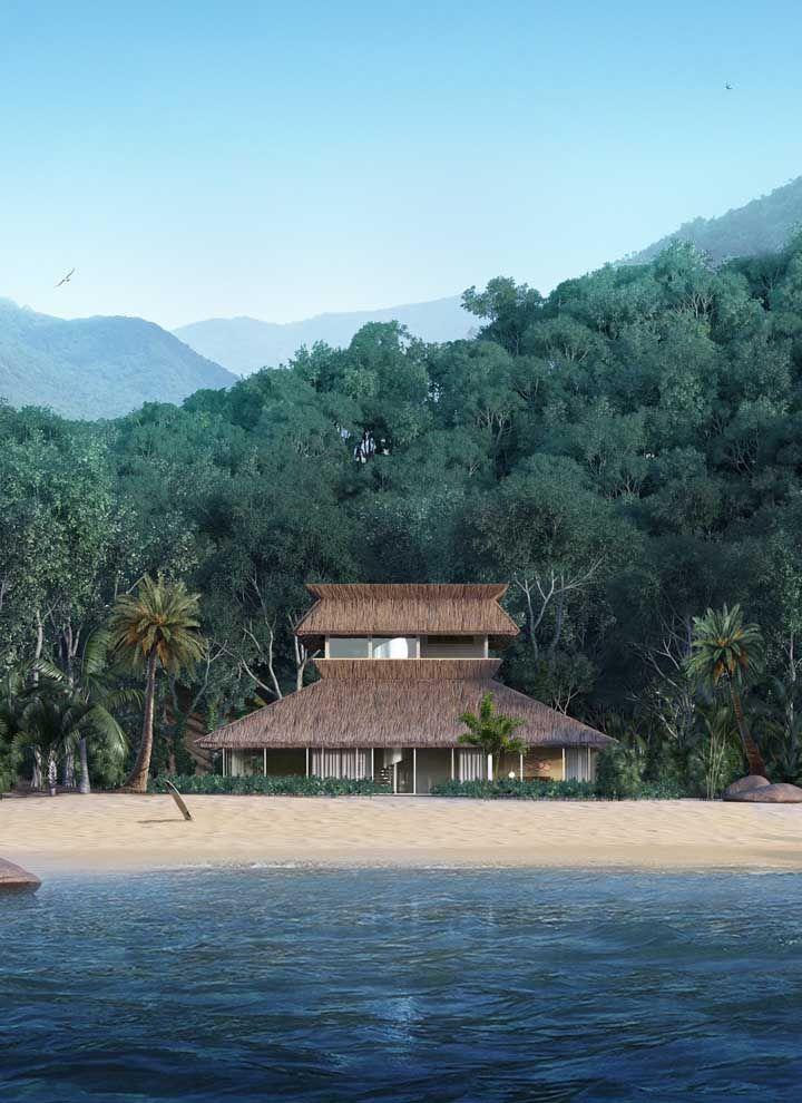 Uma casa na praia em um lugar paradisíaco, topa?