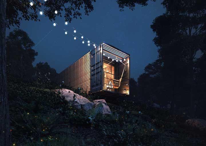 As casas container também se enquadram no conceito de casas pré-fabricadas