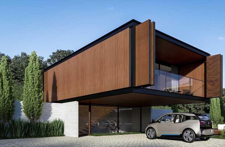 Casa pré-fabricada de madeira, mas em um modelo bem diferente dos convencionais