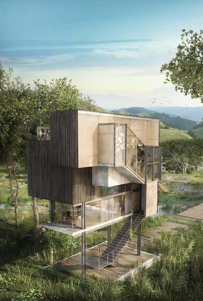 Você diria que essa casa é pré-moldada? Projeto incrível, não é mesmo?