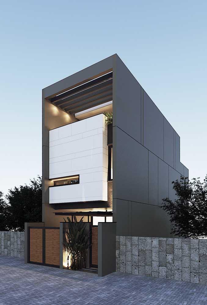 Casa pré-moldada com estruturas metálicas