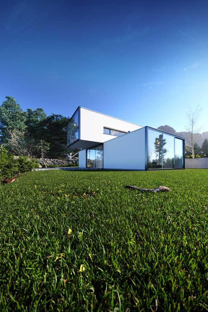 Casa pré-moldada em um quintal privilegiado