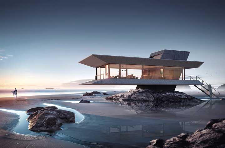 E que tal uma casa pré-moldada em cima da pedra? E na praia? E de vidro? Bem Incomum, mas incrivelmente linda