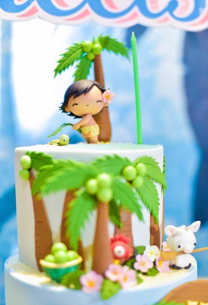 O tema Moana Baby deixa qualquer bolo um encanto só