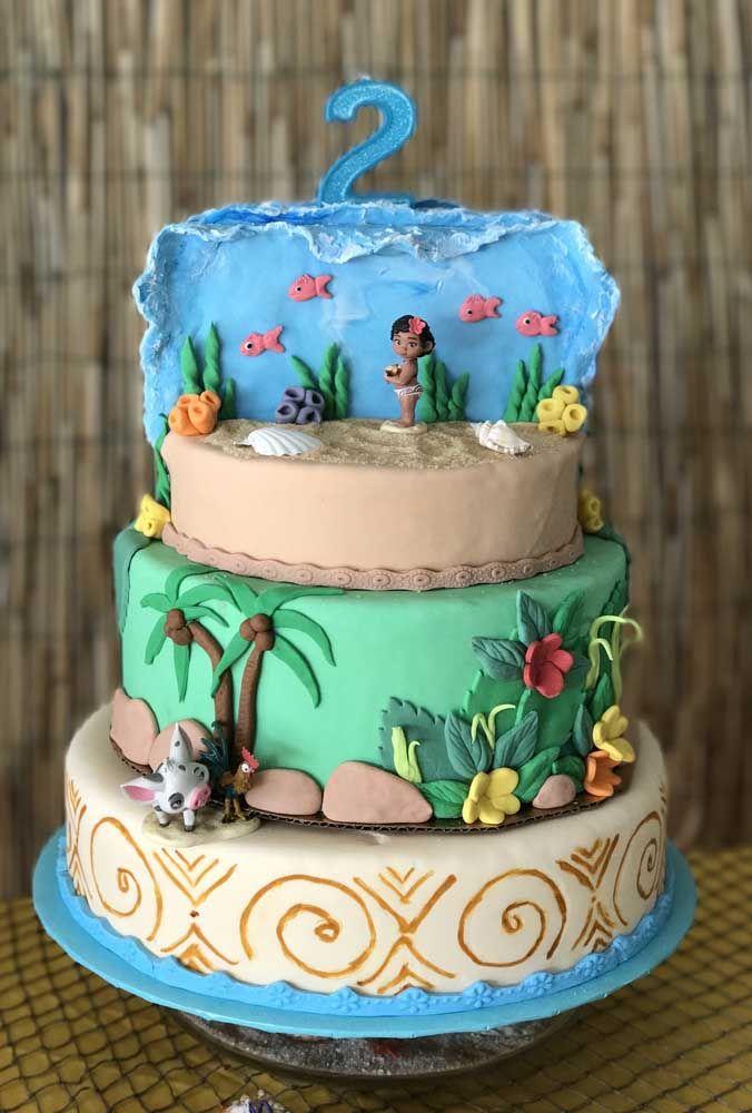 Coloque o fundo do mar no topo do bolo