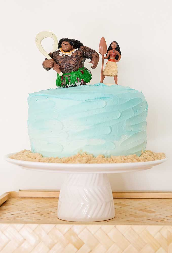 Quando você for produzir algo mais simples, apenas coloque os bonecos da Moana e do Maui para personalizar com o tema