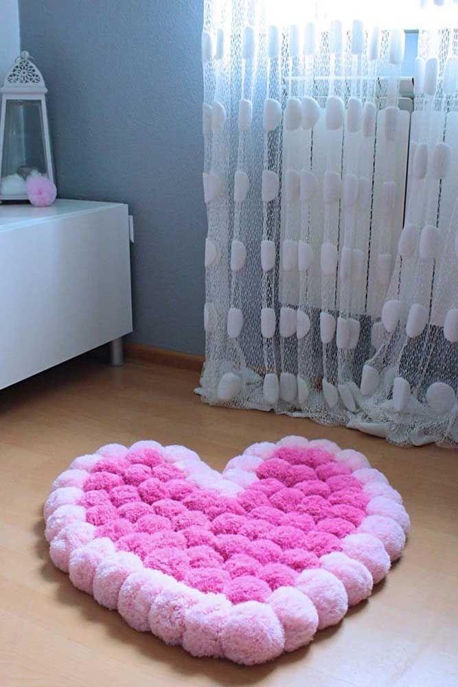 Um coração macio para descansar os pés
