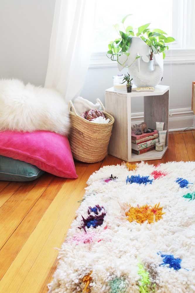 Faça do tapete de retalhos a sua tela em branco e crie as combinações de cores como um verdadeiro artista