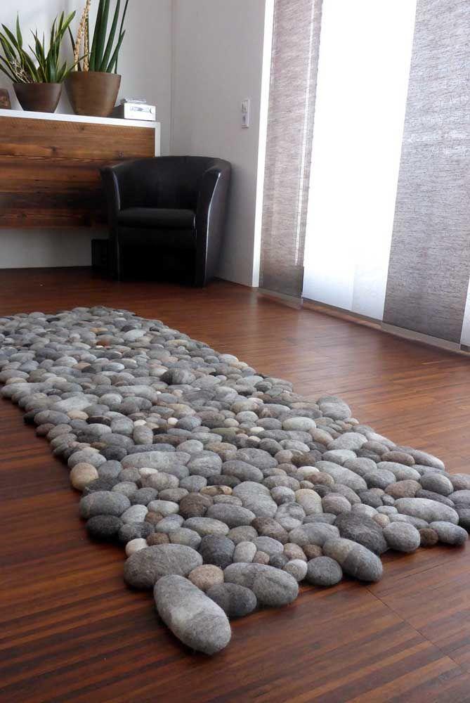 Já pensou em um tapete de pedras? Pois ele existe