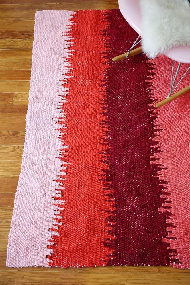 Faça um degradê de cores para deixar seu tapete de retalhos ainda mais bonito