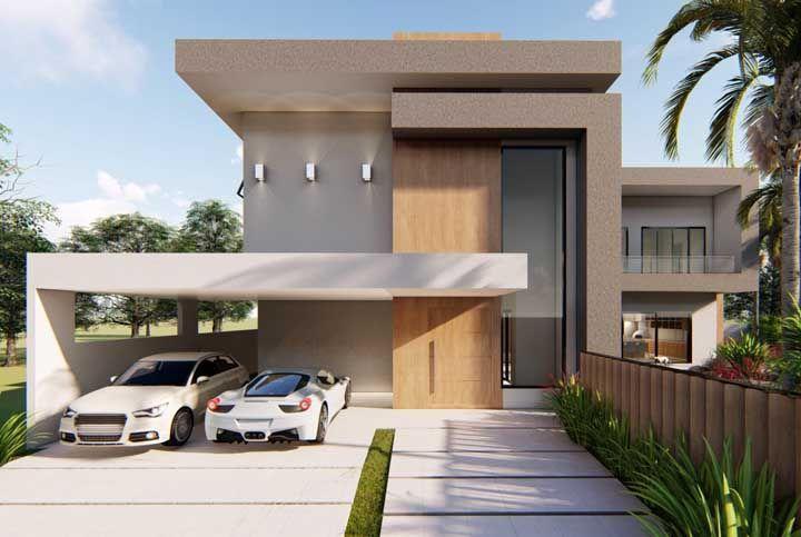 Aproveite as platibandas para criar volume e formas interessantes na fachada