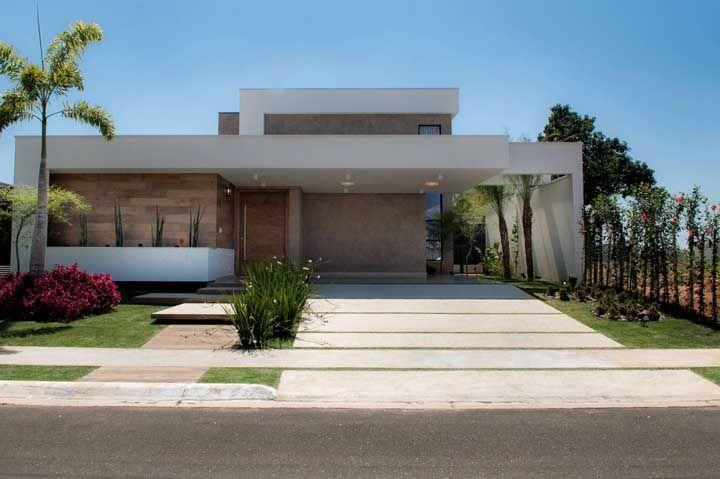 Mesmo moderna, a fachada da casa pode e deve ser aconchegante e acolhedora