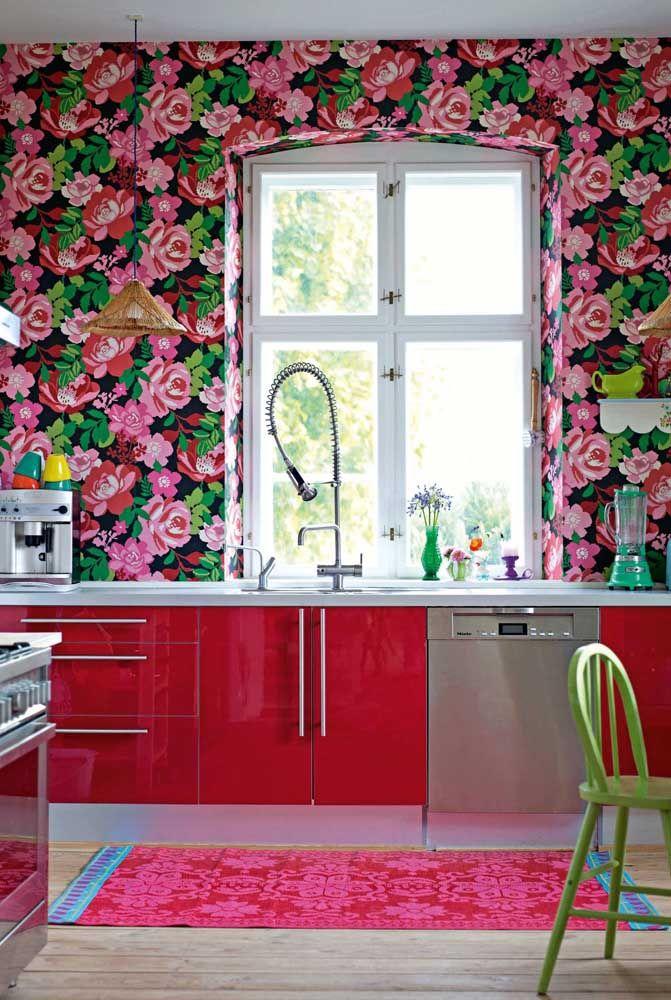 Leve charme, descontração e alegria para a cozinha também